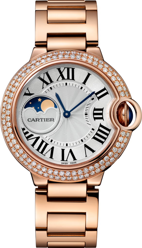 Ballon Bleu de Cartier watch37 mm, rose gold, sapphire, diamonds