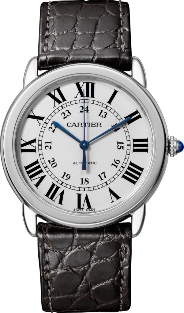 Ronde Solo de Cartier watch36 mm, steel, leather