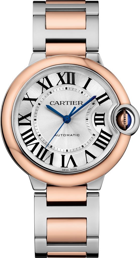Ballon Bleu de Cartier watch36 mm, rose gold and steel