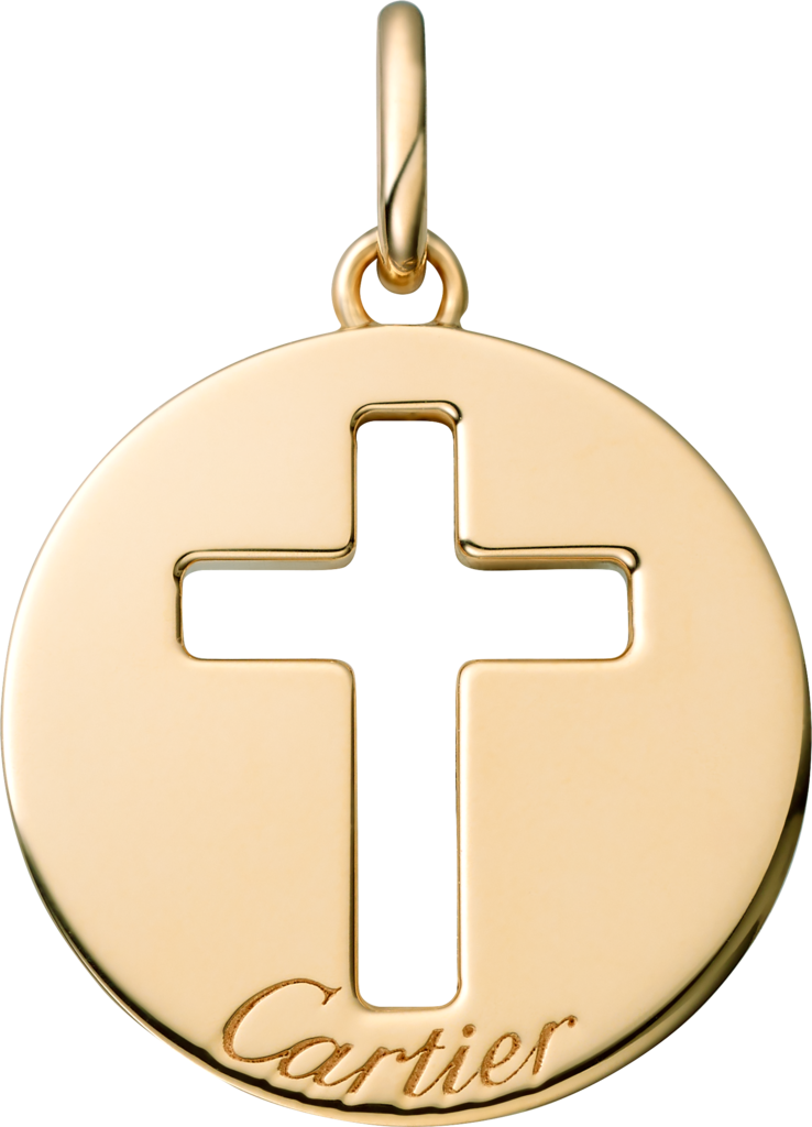 Cross pendantYellow gold