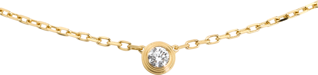 Diamants Légers necklace, small modelYellow gold, diamond