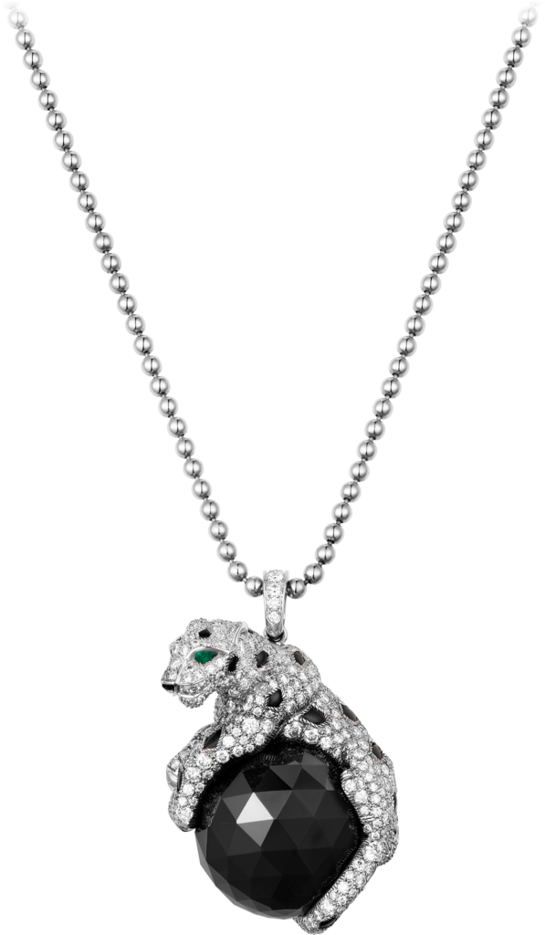 Panthère de Cartier necklaceWhite gold, emeralds, onyx