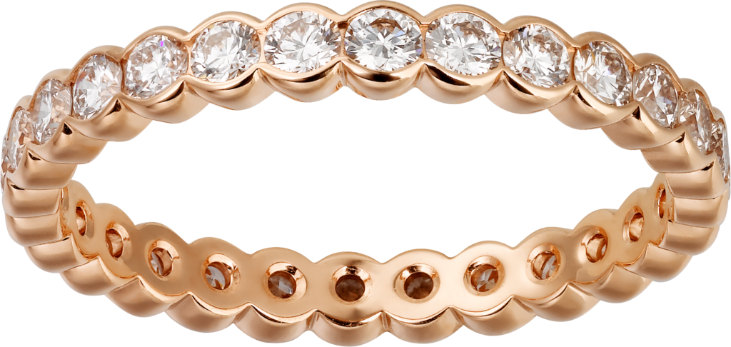 Broderie de Cartier wedding ringRose gold, diamonds