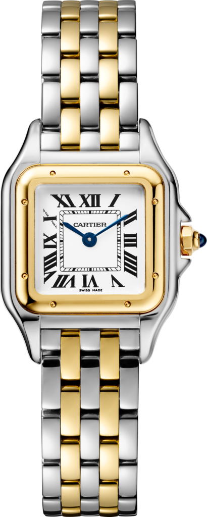 Panthère de Cartier watchSmall model, yellow gold and steel