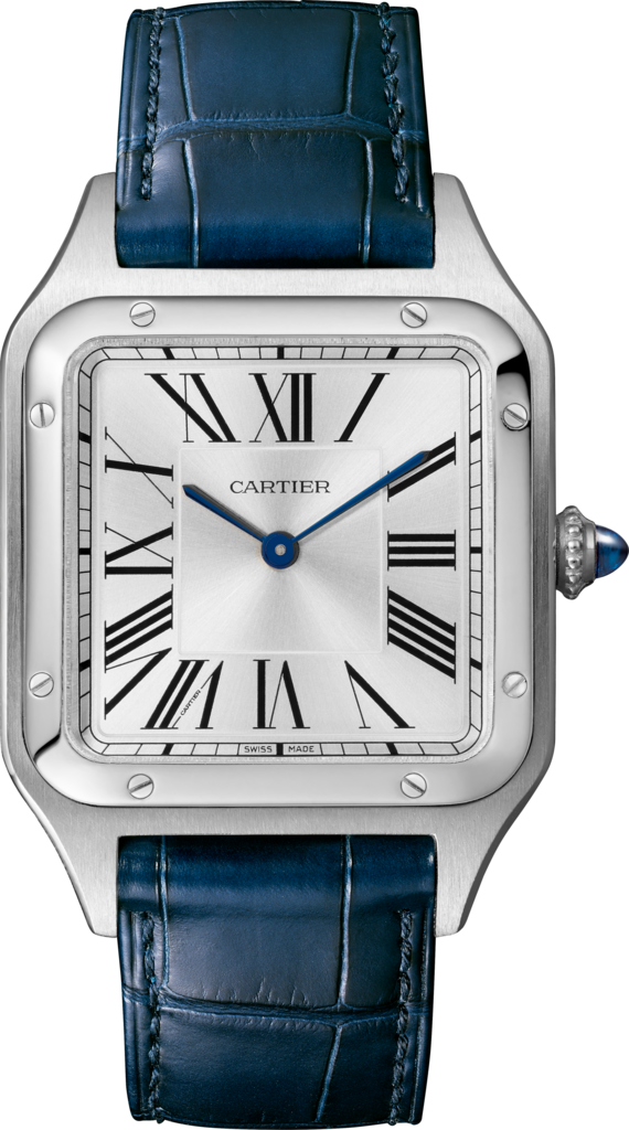 Santos-Dumont watchLarge model, steel, leather