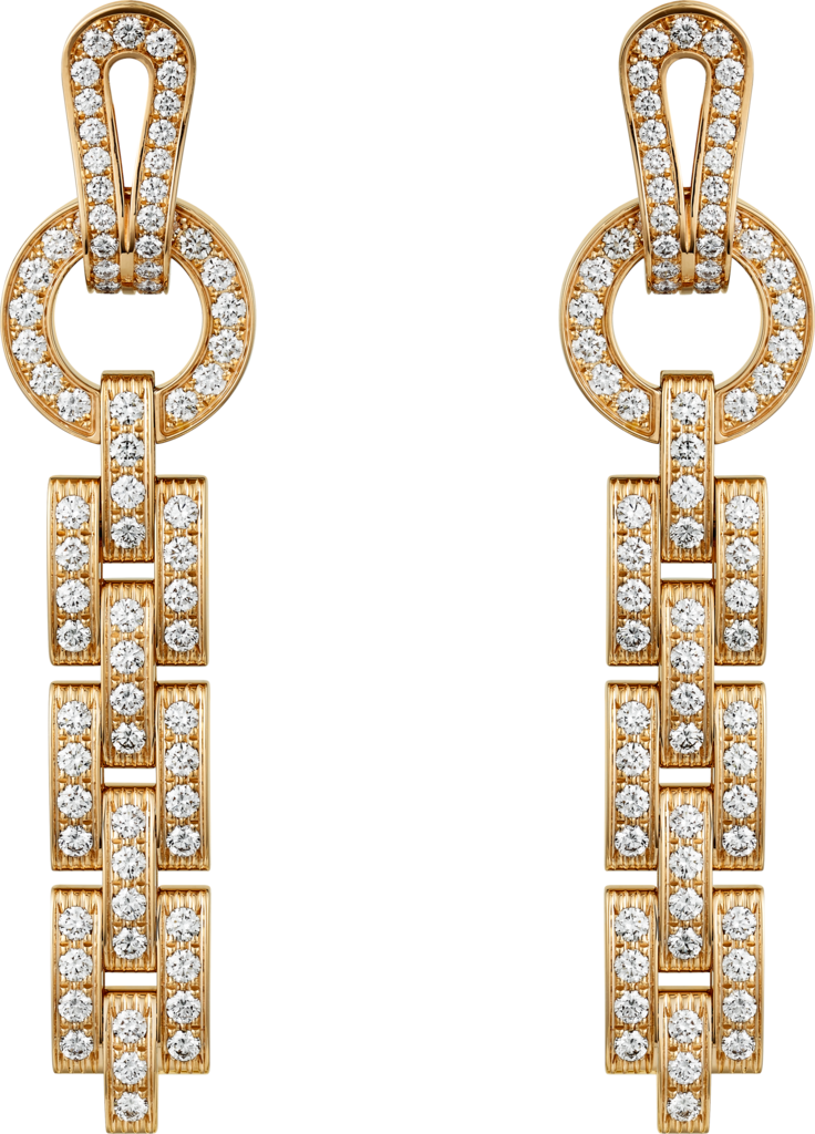 Agrafe earringsYellow gold, diamonds