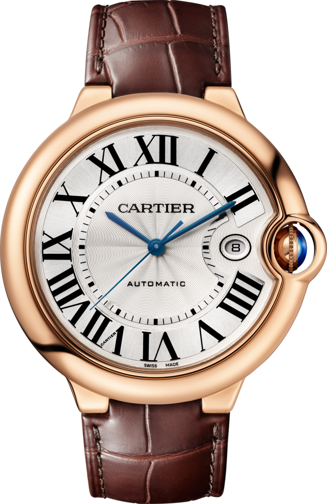 Ballon Bleu de Cartier watch42mm, automatic movement, rose gold, leather