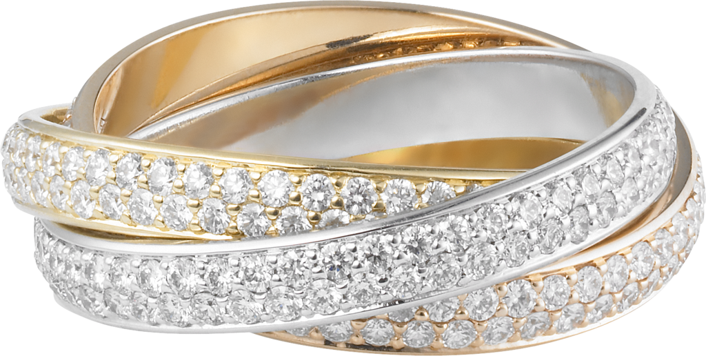 Trinity ring, small modelWhite gold, yellow gold, rose gold, diamonds