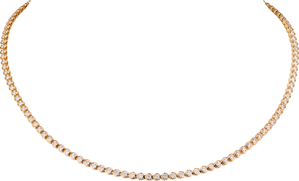 C de Cartier necklaceRose gold, diamonds