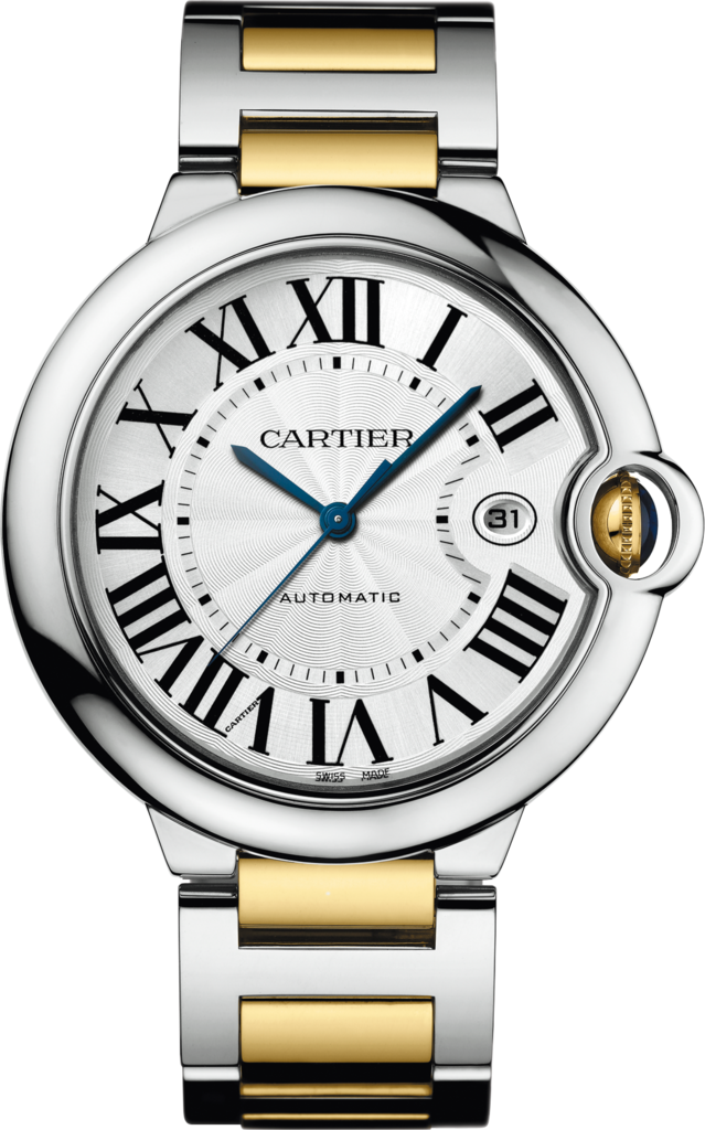Ballon Bleu de Cartier watch42 mm, 18K yellow gold, steel
