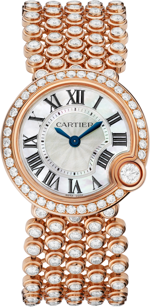 Ballon Blanc de Cartier watch30 mm, rose gold, diamond
