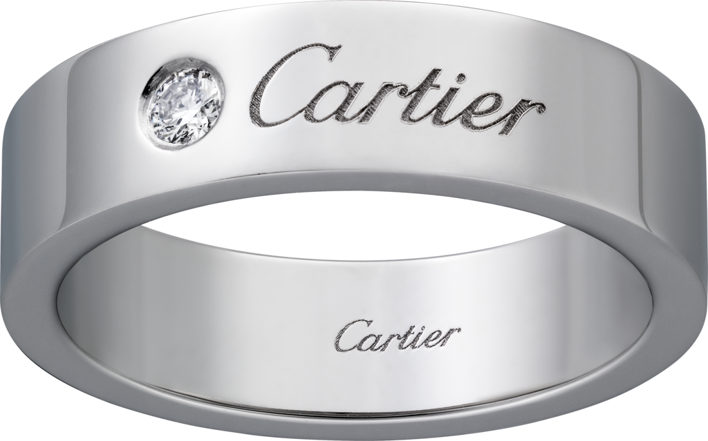 C de Cartier wedding ringPlatinum, diamond