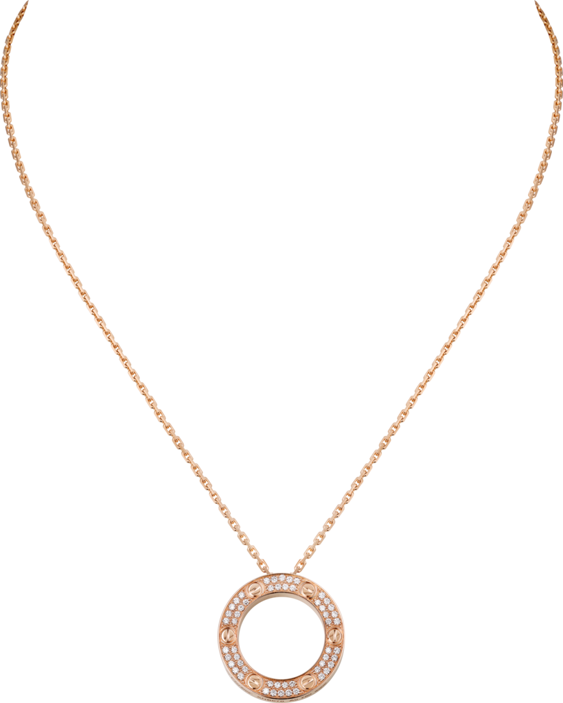 Love necklaceRose gold, diamonds
